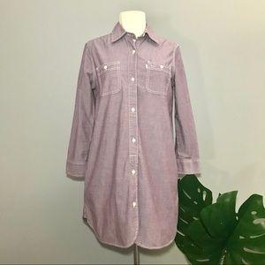 LEVI'S purple chambray tunic button down XS casual